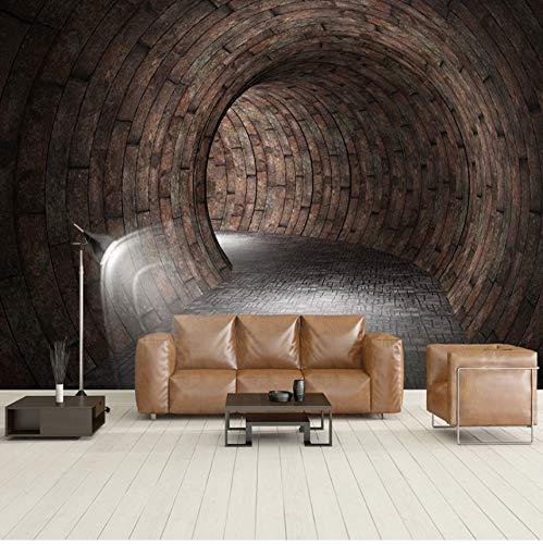 Guyuell Benutzerdefinierte Wandbild Tapete 3D Abstrakte Raum Wandmalerei Restaurant Cafe Hintergrund Wanddekor Papel De Parede 3D Paisagem-120Cmx100Cm