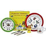 Martin Gulliver Designs Nursery Rhymes Melamine Gift Set, Multi-Colour, 23 x 23 x 7 cm