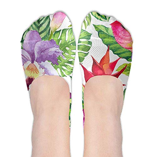 CVDGSAD Beautiful Flowes Women's Polyester Cotton Socks Ladies Boat Socks Deodorant Boat Socks Thin Section Casual Socks Low Breast Socks