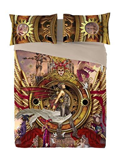 Wild Star Steampunk Oracle von Visionen und Kissenbezüge, Bettbezug Set (Double 200cm x 200cm)