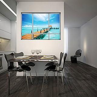 Kreative 3D Gefälschte Fensteraufkleber Mexikanisches Queensland  Wohnzimmerschlafzimmerdekoration Entfernbare Selbstklebende Aufkleber  Wasserdichtes PVC