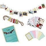 Bundle Monster - Set de marcos para fotos de papel con pegatinas y pinzas - Para fotos de 10 x 15 cm