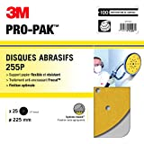3M Hookit 255P Lot de 25 Disques/27 Trous ø 225 mm P100