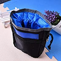 Veena Hot Sale Dog Mini Travel Garbage Bag And Snack Bags Waste Bag Scoop For Garbage Bags For Cat Dog Blue