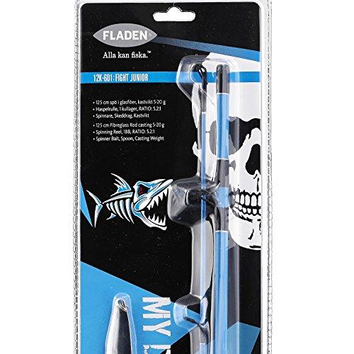Fladen Deadly Angeln 2Stück Rod & Reel, Line, Spinner, Löffel & Gewicht Combo, (blau & rosa)-Ideal Kinder Starter Einführung Set blau (River Fishing Rod Und Reel)