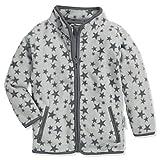Playshoes Baby-Mädchen Fleece Sterne Jacke, (Grau 33), (Herstellergröße: 74)