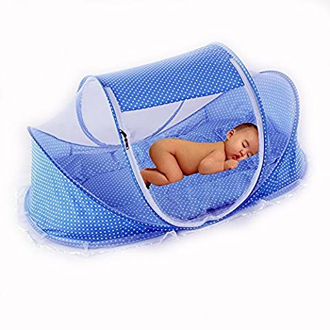 CHRISLZ Summer Mosquito Net pour les enfants, Portable Folding Baby Travel Bed Berceau Berceaux Newborn Foldable