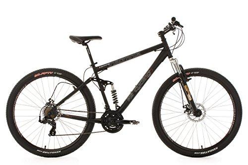 KS Cycling Insomnia – Bicicleta de montaña de doble suspensión, color negro, ruedas 29″, cuadro 51 cm