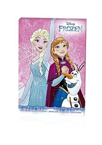 Frozen Schoko-Adventskalender mit kostenlosem Wunschzettel für Weihnachten - 65g Schokolade (Baby In Watermelon Kostüm)