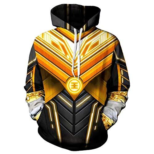 (XJXDWY 3D Sport Hoodie Lässige Pullover Unisex Bewegung Phantasie Kostüm Digitaldruck Power Rangers XXS)