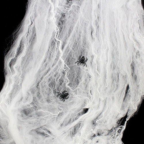 MMRM Extensible Toile d'araignée + 2 Araignée Scène Décoration Prop pour Halloween 0091971073933