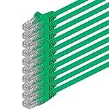 1aTTack - Cable de red UTP con conectores RJ45 (cat. 6) verde- 10 Unidades