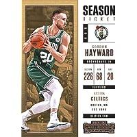 2017–18Dépasse Panini Season Ticket # 6Gordon Hayward Boston Celtics Basketball carte