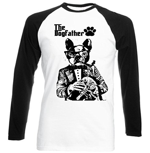teesquare1st Men's French Bulldog Dogfather PB 45t Black Long Sleeved T-Shirt Size Small
