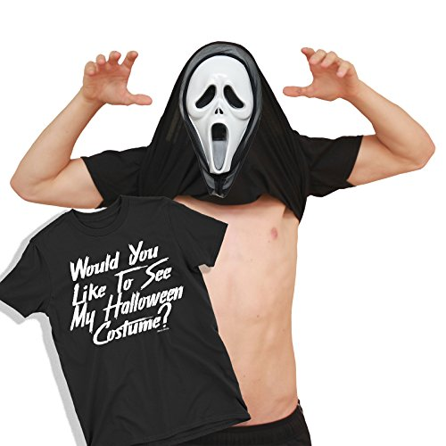 Herren Would You Like to See My Scream MASK Scary Movie Halloween Umdrehen ()