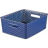 "'Curver 03611de X73–00""My Style–Cesto 35,5x 29,6x 13,3cm en azul claro, Plástico, 35,5x 29.6x 13.3CM"