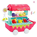 MAyouth 1 Set Toy Role Gioca Supermarket Vegetables Fruit Shop Carrello Pretend Toy Mini Regalo con Musica Leggera per Bambini Kids