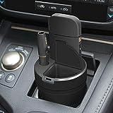 Cable Technologies Cup Charger for IQOS Black, Compatibile con IQOS 2.4 Plus, Alimentatore Caricatore per Sigaretta Elettronica IQOS e per Pocket Charger, con posacenere, portabicchieri Auto