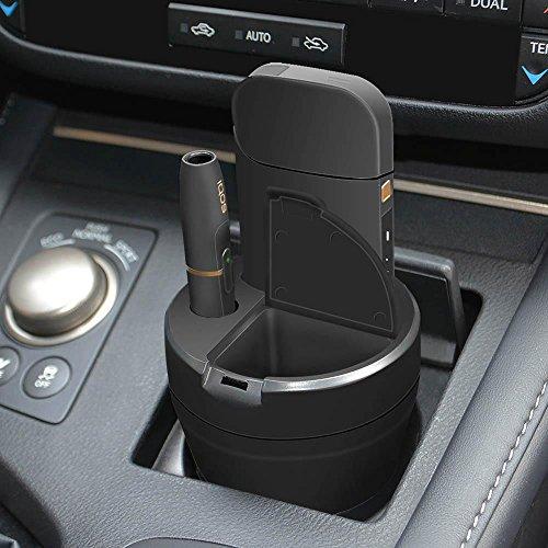 Cable Technologies Cup Charger for IQOS® Black, Compatibile con IQOS® 2.4/2.4 Plus, Alimentatore Caricatore per Sigaretta Elettronica IQOS® e per Pocket Charger, con posacenere, portabicchieri Auto
