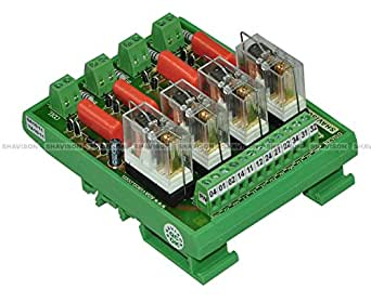 Shavison Relay Module AS423-230VAC-S-OE, 1C/O, 4 Channel, 230VAC Coil, OEN Relay, Socket Mounted Relay, Isolated Coils, Contact Rating : 28VDC/230VAC, 5A