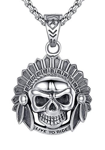 stainless-steel-mens-biker-live-to-ride-native-skull-pendant-necklace-gothic-round-link-chain-g2086q