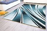 Designer Teppich Modern Dolce in Türkis, Größe: 120x170 cm