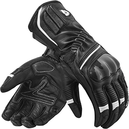 Xena Sand (REVIT XENA 2 Damen Leder Motorradhandschuhe Sport - schwarz weiss Größe L)