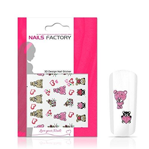 N&BF Nagelsticker Bears | Nagelaufkleber für Gel und Acryl Nägel | Nail Tattoo Bären Motiv | Nail Sticker bunt | Nailart Nagel Transfersticker | Made in EU -