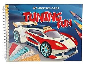 Depesche 10300Libro para Colorear Monster Cars Tuning Fun, Multicolor