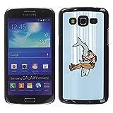 SuperStar // Kühles Bild Hartschalenkoffer PC Schutzhülle Hard Case Protective Cover for Samsung Galaxy Grand 2 / Haifisch-Kiefer-Kämpfer /