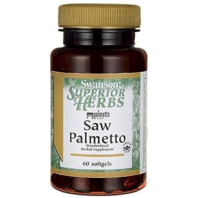 Swanson Superior Herbs Saw Palmetto Maximum Strength, 320mg, 60 Softgels