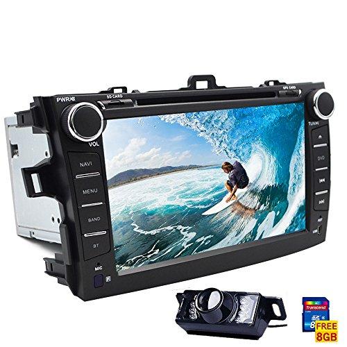 Touchscreen Autoradio mit Navigation und Bluetooth für Toyota Corolla 2009-2010GPS FM AM Autoradio Doppel DIN Head Unit iPod Analog-TV - Touch Screen Analog-tv