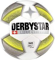 Derbystar Unisex jeugd BRILLANT voetbal, wit/grijs/geel, 5