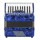 YUANZHOU 26-Tasten 48-Bass Piano Akkordeon Set Mit Riemen Handschuhe...