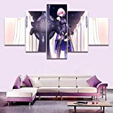 HY.Bohu wall decor 5 Pieces Anime Fate Grand Order Poster Shielder Modern Home Wall Decor Canvas Picture Art HD Print Painting On Canvas Artworks