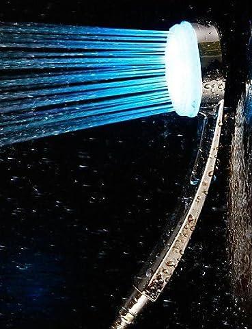 Hjkdgh robinet Finition chromée Changement de couleur LED Pommeau de douche