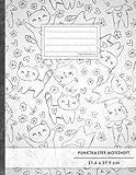 "Punktraster Notizbuch • A4-Format, 100+ Seiten, Soft Cover, Register, ""Lustige Katzen"" • Original #GoodMemos Dot"