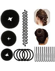 Lictin Haare Frisuren Set Dutt Maker Frisurenhilfe Set Haare Styling Set Haar Styling Werkzeug Set Haar Styling Zubehör Haar Styling festgelegt Kit