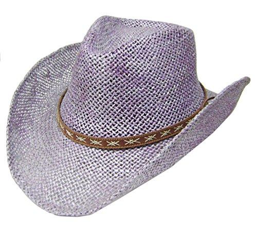 modestone-unisex-straw-sombrero-vaquero-purple