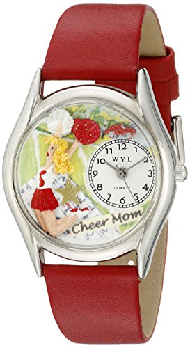 whimsical-watches-femmes-s1010012-maman-cheer-cuir-rouge-regarder