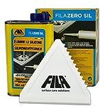 Fila Zero Sil Silikonentferner - Entfernt Reste und Rückstände von Silikon, Kleber, Klebeband, alten Aufklebern und Polyurethanschaum 250 ml