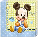 PARTY DISCOUNT Neu Servietten Baby Mickey, 33x33cm, 20 Stück