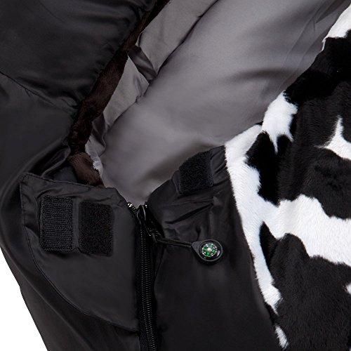 Grüezi+Bag Erwachsene Mumienschlafsack Cow RV Links, Schwarz, 40 x 23 x 23 cm, 7800 - 8