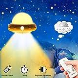 Lehoo Castle Luci notturne per bambini,Lampada creativa,Luce notturna da comodino ricaricabile USB,Controllo Lampada,ufo Intelligente Luce notturna,Lampada a risparmio energetico (Giallo)
