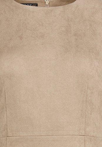 APART Fashion Kleid, Robe Femme Beige - Beige (taupe 0)
