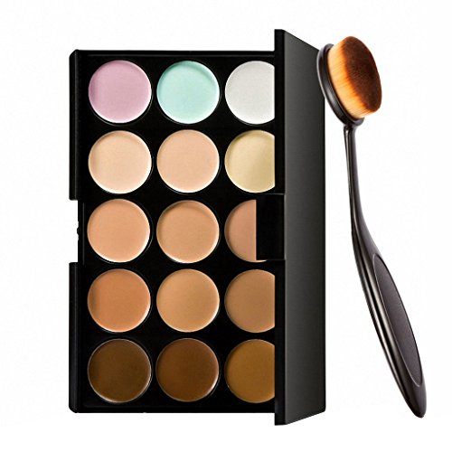 Imported 15 Colors Contour Face Cream Makeup Concealer Palette + Make up Brush