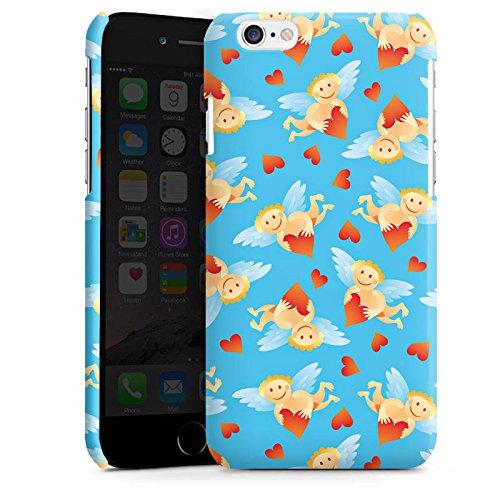 Apple iPhone 6 Housse Étui Silicone Coque Protection Ange Petit c½ur Amour Cas Premium brillant
