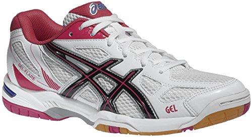asics-damen-hallenschuh-handballschuhe-gel-flare-5-women-b45pq-0190-white-black-pink-schuhgrosse42