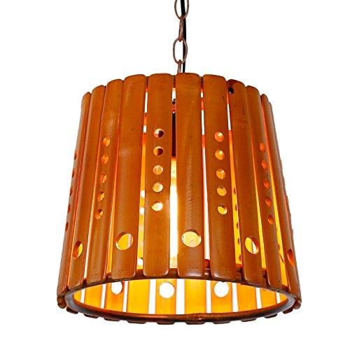 Pumpink Lampade a sospensione regolabili in lega di bambù Gazebo antico Lampade a sospensione regolabili Lampada a sospensione moderna Lampada a soffitto moderna in legno a doppia sedia a soffitto