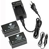 DSTE 2-pack Rechange Batterie et DC108E Voyage Chargeur pour Panasonic DMW-BMB9 Lumix DMC-FZ40 DMC-FZ45 DMC-FZ47 DMC-FZ48 DMC-FZ60 DMC-FZ62 DMC-FZ70 DMC-FZ72 DMC-FZ100 DMC-FZ150 V-Lux2 V-Lux3